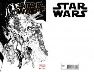 Star Wars #1 (J. Scott Campbell Four Color Grails Connecting Sketch Variant Cover A) (kompletter Umschlag)