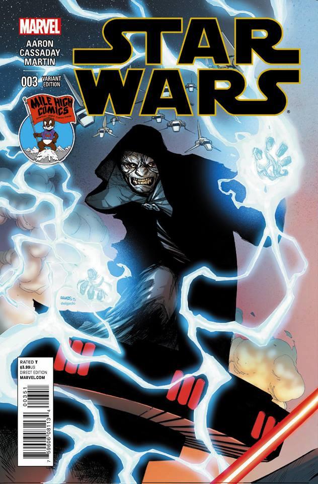 Star Wars #3 (Humberto Ramos Mile High Comics Variant Cover) (11.03.2015)
