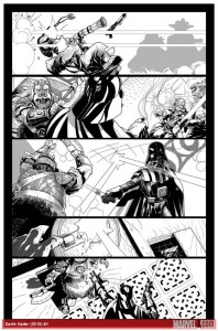 Salvador Larroca - Darth Vader #1 Vorschauseite 2 (mit Tusche)