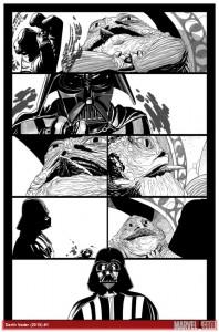 Salvador Larroca - Darth Vader #1 Vorschauseite 3 (mit Tusche)