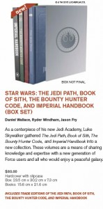 The Jedi Path, Book of Sith, The Bounty Hunter Code, and Imperial Handbook (Box Set)