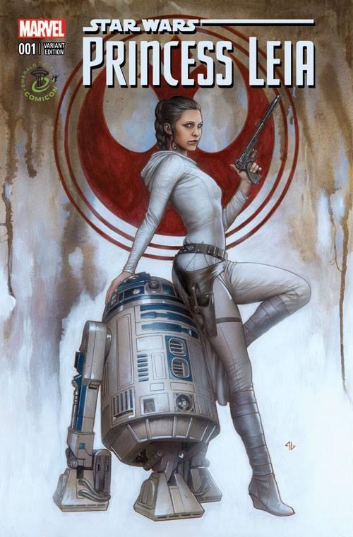 Princess Leia #1 (Adi Granov Emerald City Comicon Variant Cover) (27.03.2015)