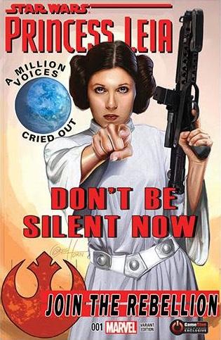 Princess Leia #1 (Greg Horn GameStop PowerUp Variant Cover) (04.03.2015)