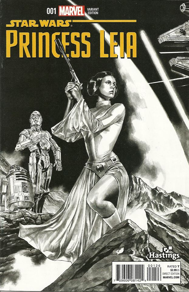 Princess Leia #1 (Mico Suayan Hastings Connecting Sketch Variant Cover) (04.03.2015)