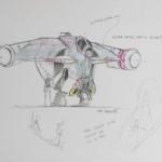 Konzeptzeichnung der Banshee (gezeigt auf der Celebration Europe II)