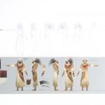Konzeptzeichnung eines Tusken-Schamanen (gezeigt auf der Celebration Europe II)