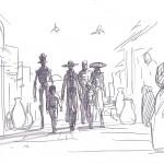 Eine Gruppe Kopfgeldjäger (Konzeptzeichnung von Dave Filoni)