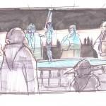 Ahsoka Tano und der Jedi-Rat (Konzeptzeichnung von Dave Filoni)