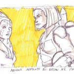 Ahsoka Tano und Bo-Katan (Konzeptzeichnung von Dave Filoni)