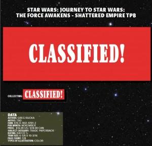 Greg Rucka im Marvel-Katalogeintrag zu Shattered Empire