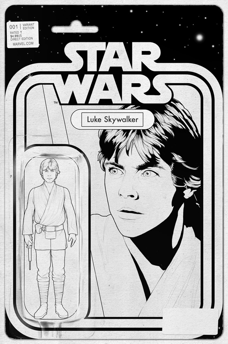 Star Wars #1 (John Tyler Christopher Action Figure Black & White Variant Cover) (24.04.2015)