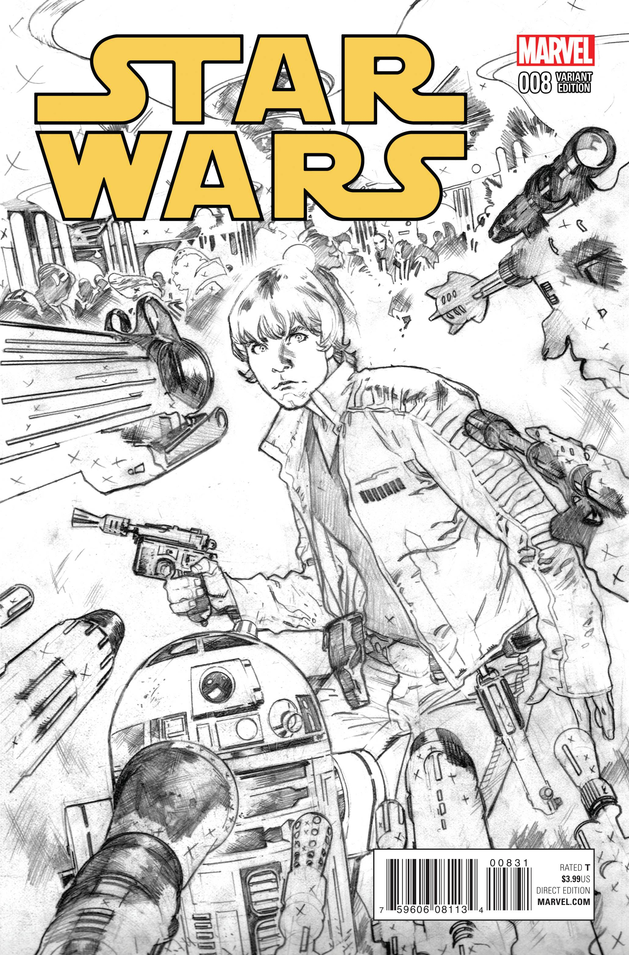 Star Wars #8 (Stuart Immonen Sketch Variant Cover) (19.08.2015)
