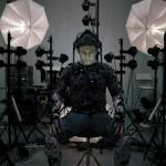 Andy Serkis im Motion-Capturing-Anzug für Das Erwachen der Macht