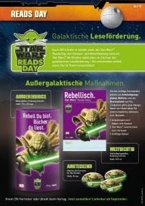 Werbematerialien zum Star Wars Reads Day im Oktober