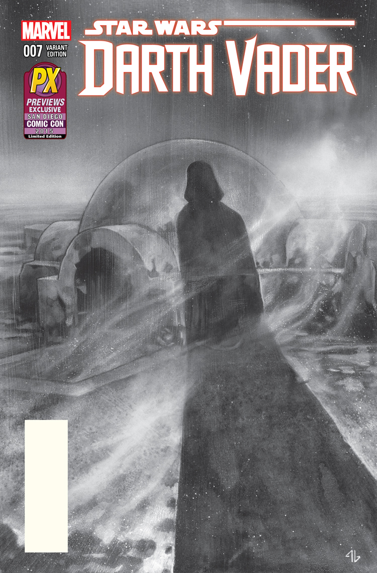 Darth Vader #7 (Adi Granov Black & White PX Exclusive SDCC Variant Cover) (08.07.2015)