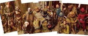Galaxisreisende, Schmuggler und anderes Gesindel aus der Haupthalle von Maz Kanatas Piratenschloss