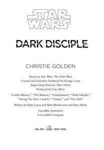 <em>Dark Disciple</em> - Titel der <em>TCW</em>-Folgen