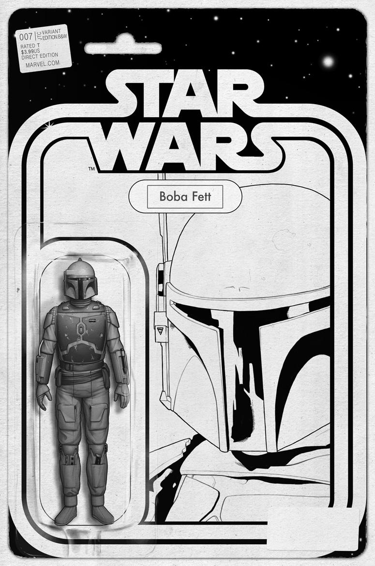 Star Wars #7 (JTC Boba Fett Black & White Action Figure Variant Cover) (29.07.2015)
