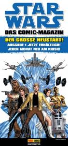 Streifenplakat zum Star Wars-Neustart bei Panini (Vorderseite)