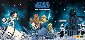 Streifenplakat zum Star Wars-Neustart bei Panini (Rückseite)