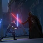 Ezra und Kanan stellen sich Darth Vader.
