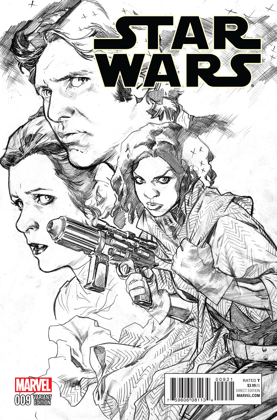 Star Wars #9 (Stuart Immonen Sketch Variant Cover) (16.09.2015)