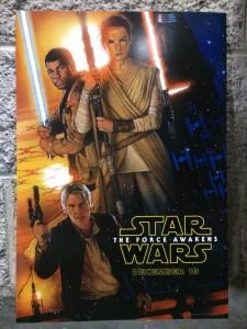 D23-exklusives Filmplakat zu Star Wars: The Force Awakens von Drew Struzan