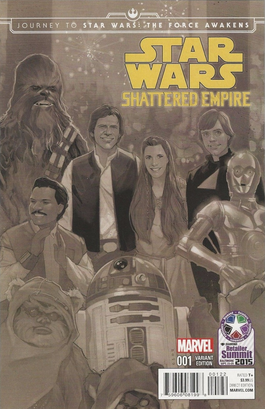 Shattered Empire #1 (Phil Noto PX Retailer Summit Black & White Variant Cover) (09.09.2015)