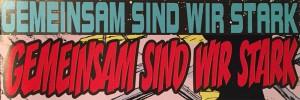 Gemeinsam sind wir stark - ein identischer Titel für zwei unterschiedliche Comics.