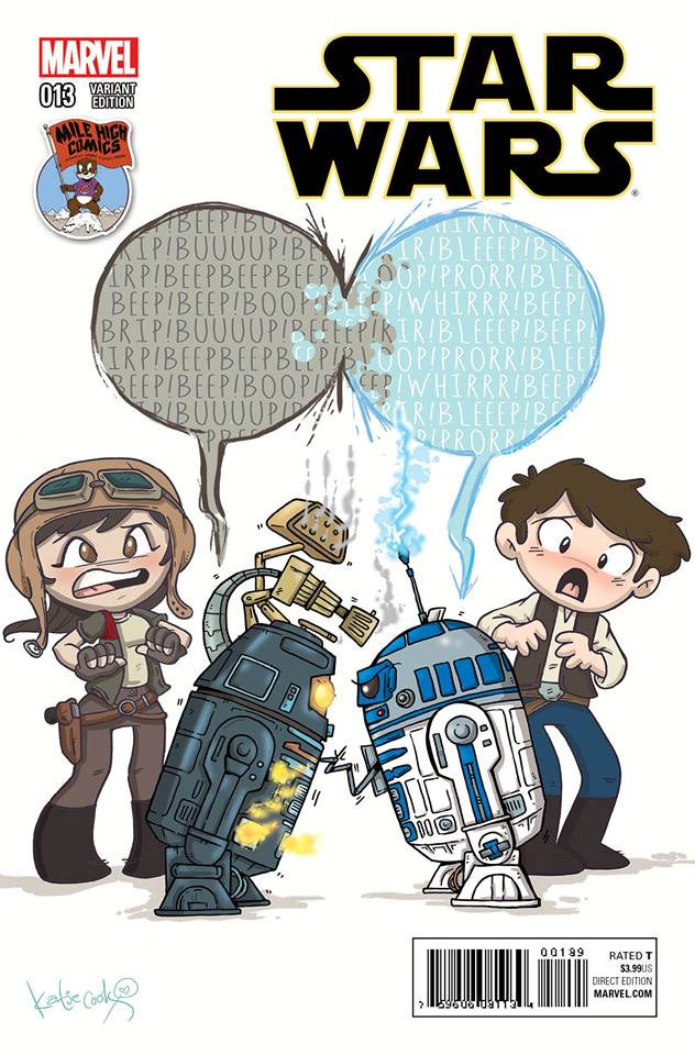 Star Wars #13 (Katie Cook Mile High Comics Variant Cover) (02.12.2015)