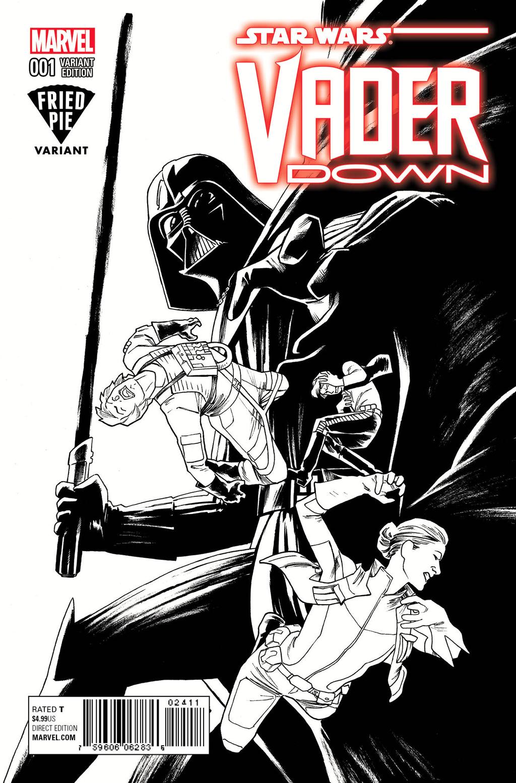 Vader Down #1 (Kris Anka Fried Pie Black & White Variant Cover) (18.11.2015)