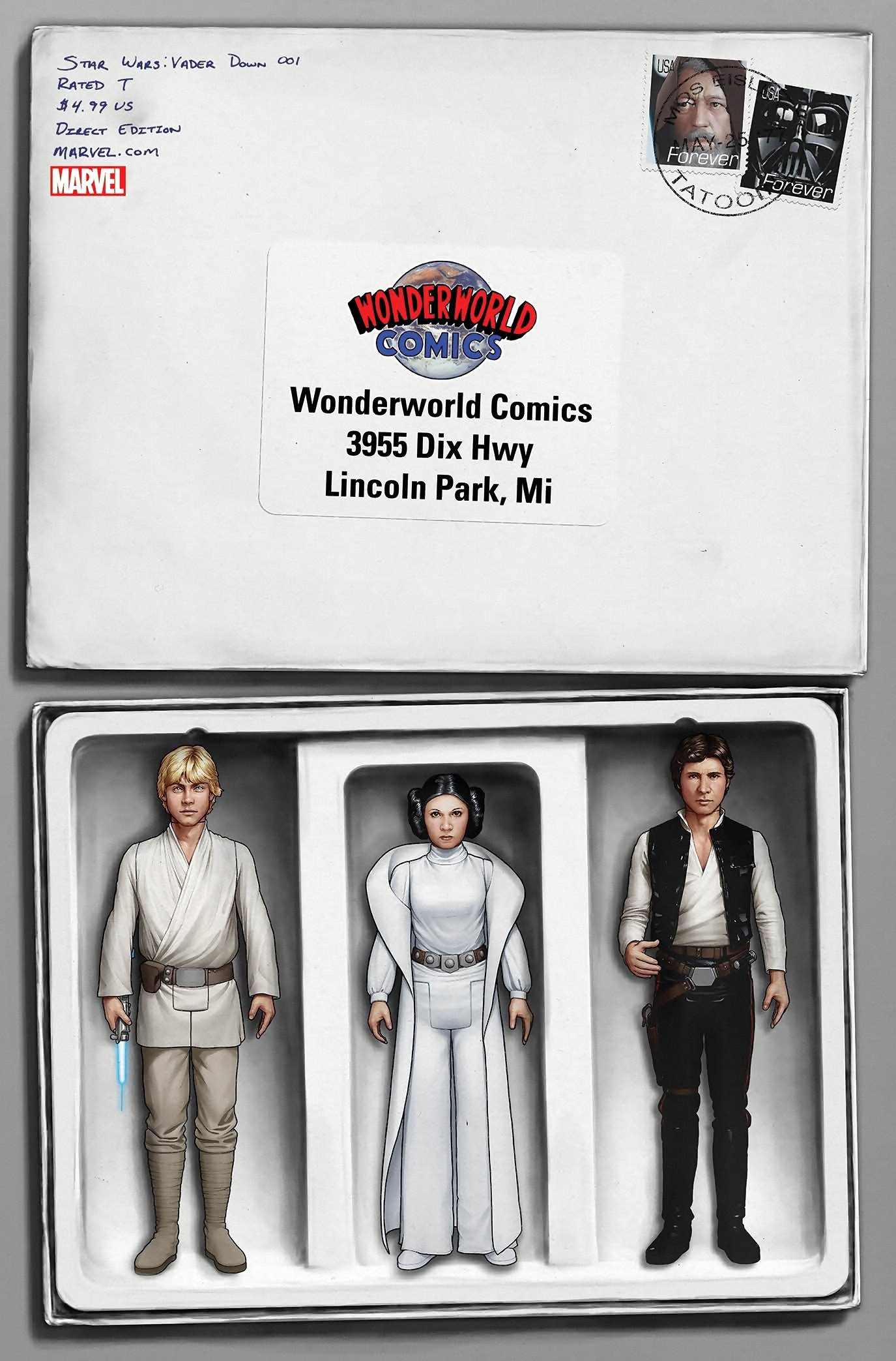 Vader Down #1 (John Tyler Christopher Wonderworld Comics Variant Cover) (18.11.2015)