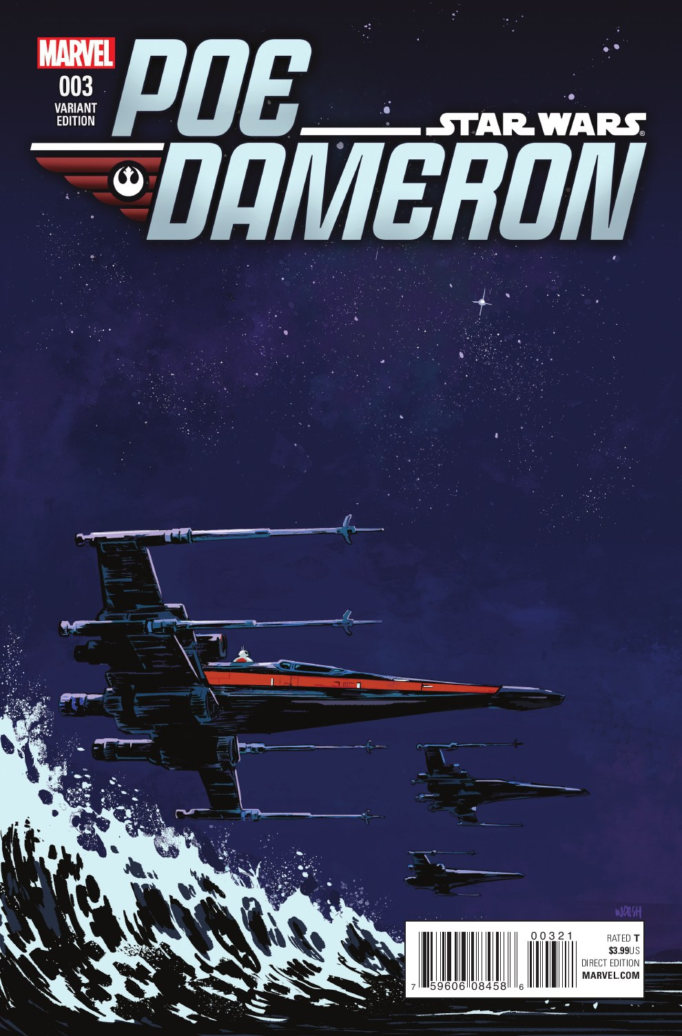 Poe Dameron #3 (Michael Walsh Variant Cover) (08.06.2016)