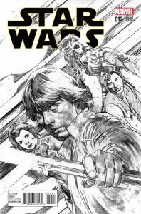 Star Wars #12 (Stuart Immonen Sketch Variant Cover) (18.11.2015)