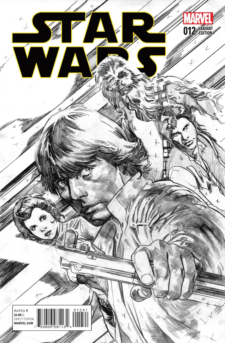 Star Wars #12 (Stuart Immonen Sketch Variant Cover) (18.11.2015)