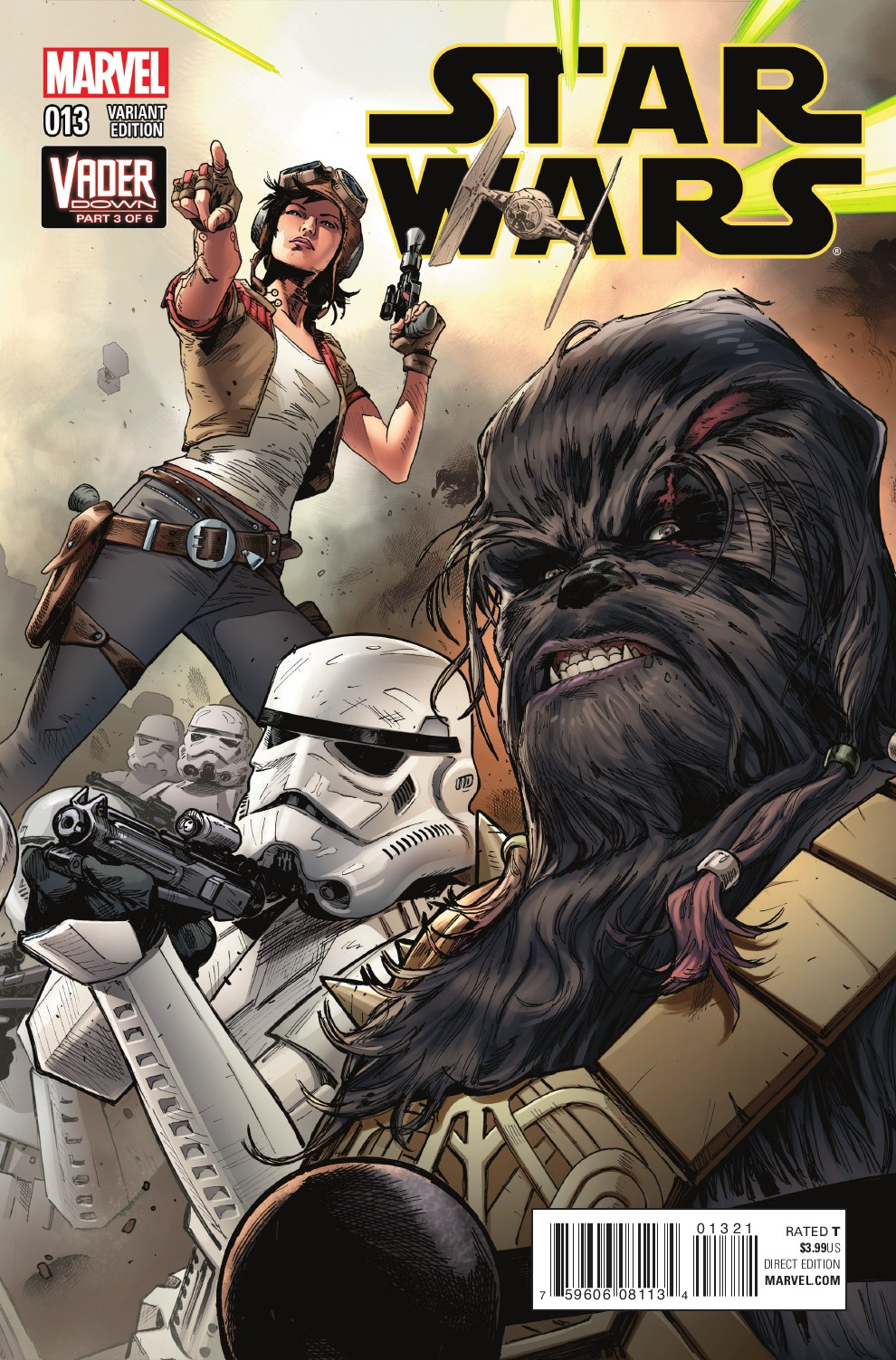 Star Wars #13 (Clay Mann Connecting Variant Cover C) (02.12.2015)