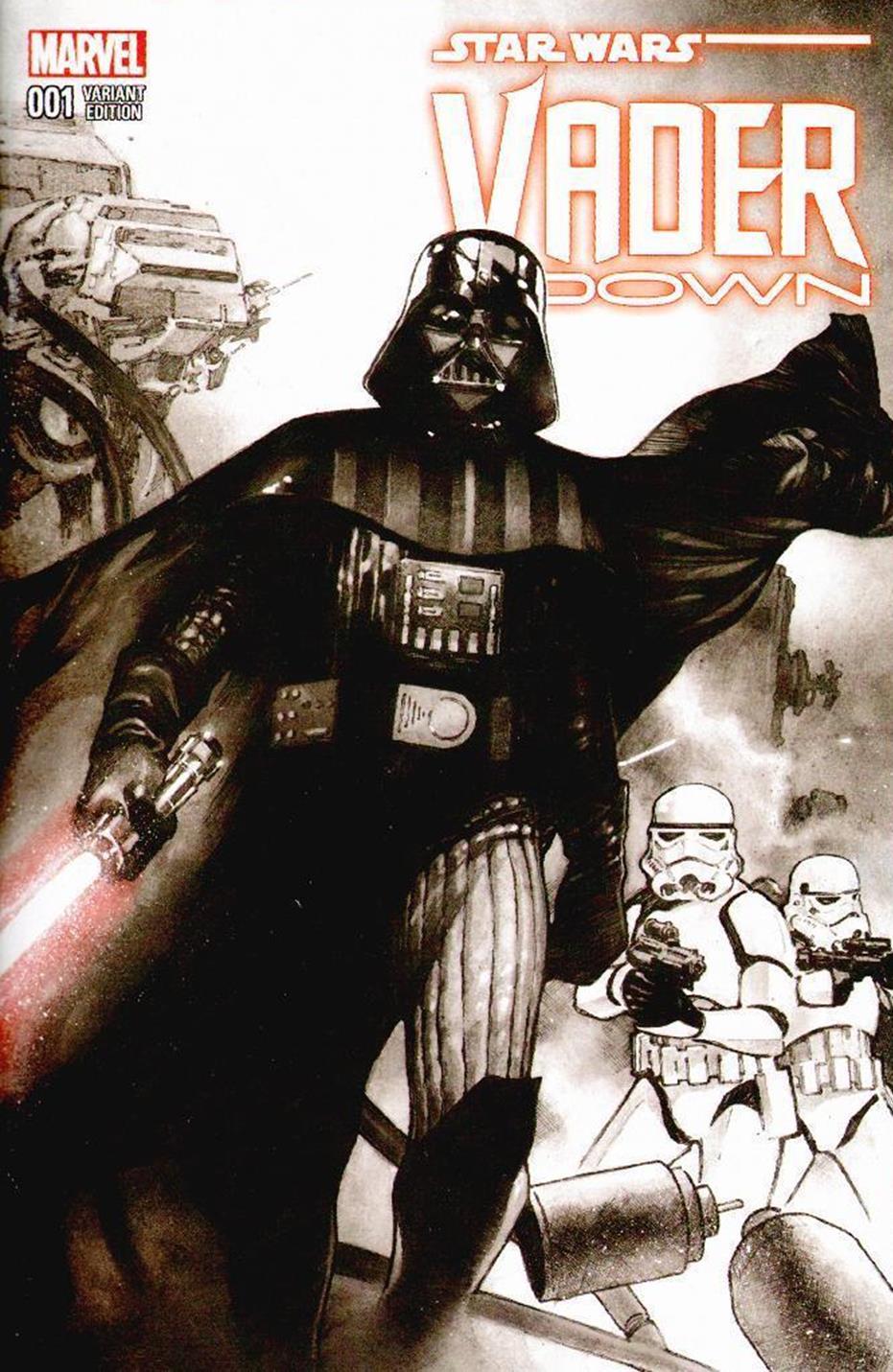 Vader Down #1 (Olivier Coipel Dynamic Forces Black & White Variant Cover) (18.11.2015)
