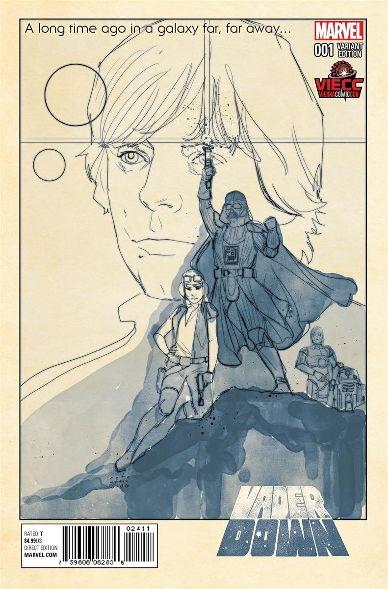 Vader Down #1 (Phil Noto Vienna Comic Con Black & White Variant Cover) (21.11.2015)