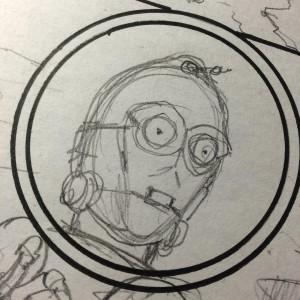 C-3PO - Zeichnung von Tony Harris