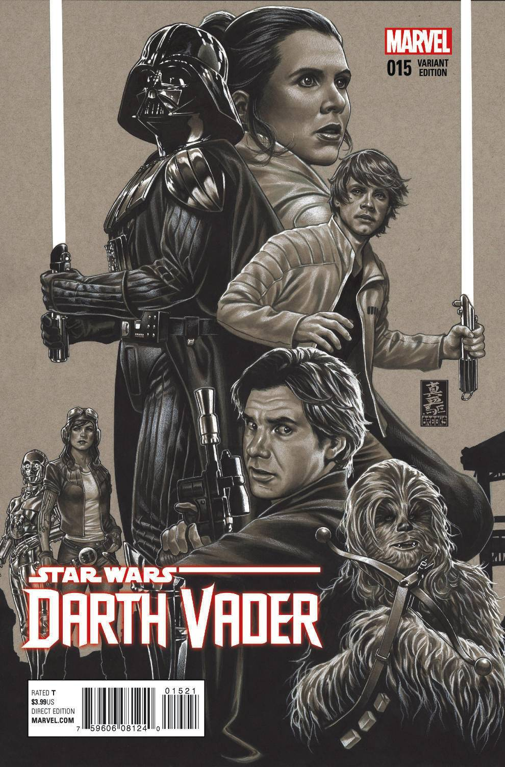 Darth Vader #15 (Mark Brooks Sketch Variant Cover) (06.01.2016)
