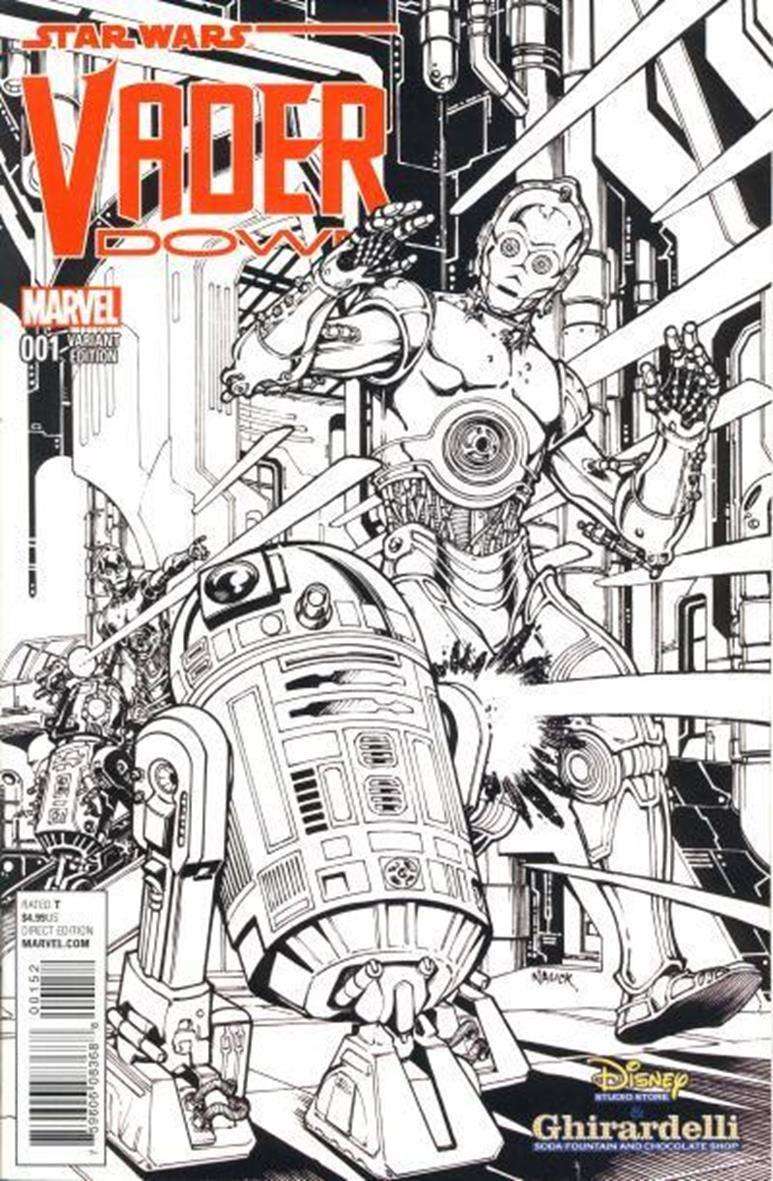 Vader Down #1 (Todd Nauck Black & White Variantcover) (14.12.2015)