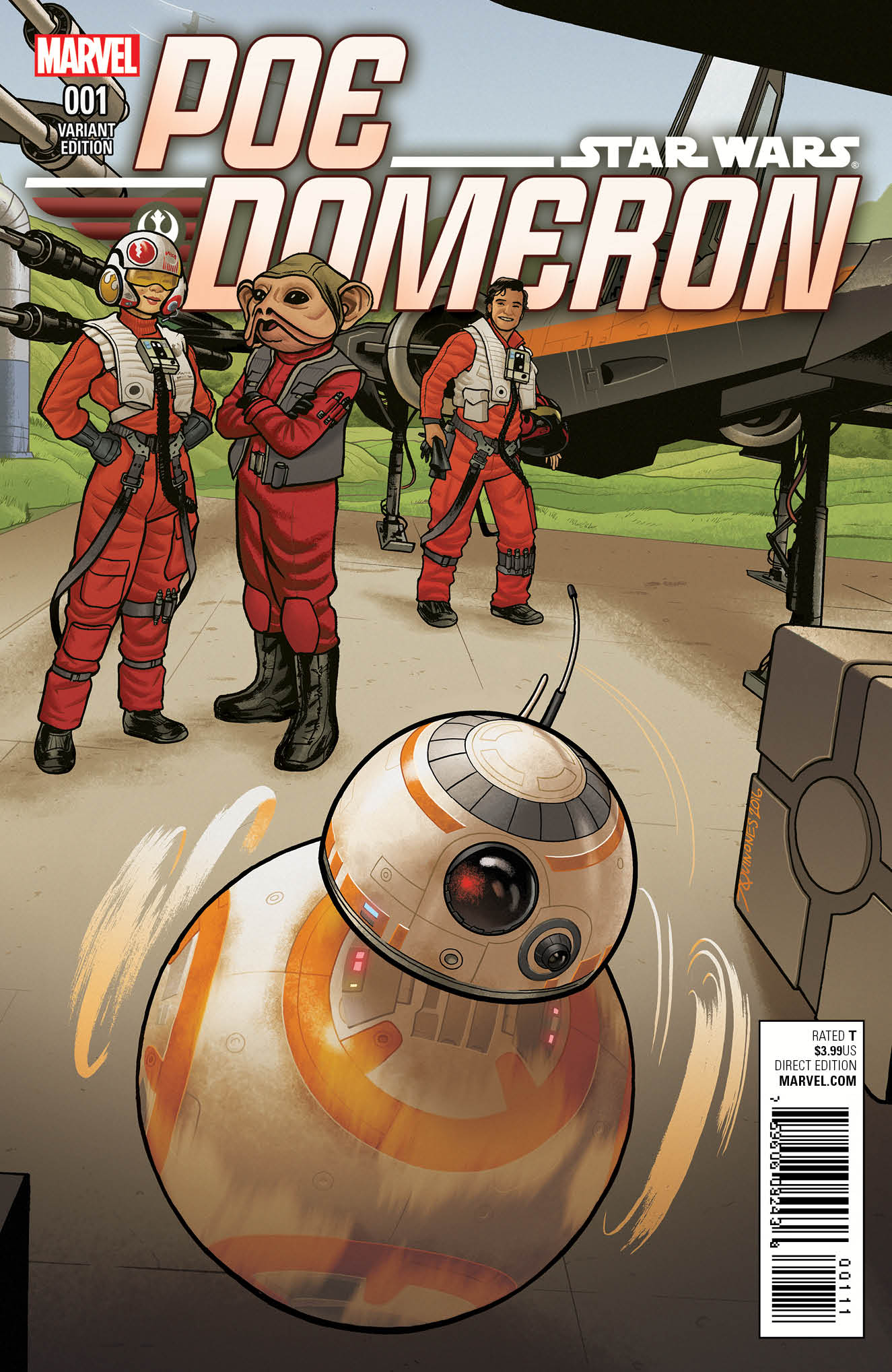 Poe Dameron #1 (Joe Quinones BB-8 Variant Cover) (06.04.2016)