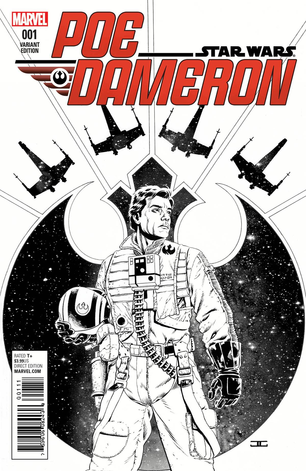 Poe Dameron #1 (John Cassaday Sketch Variant Cover) (06.04.2016)