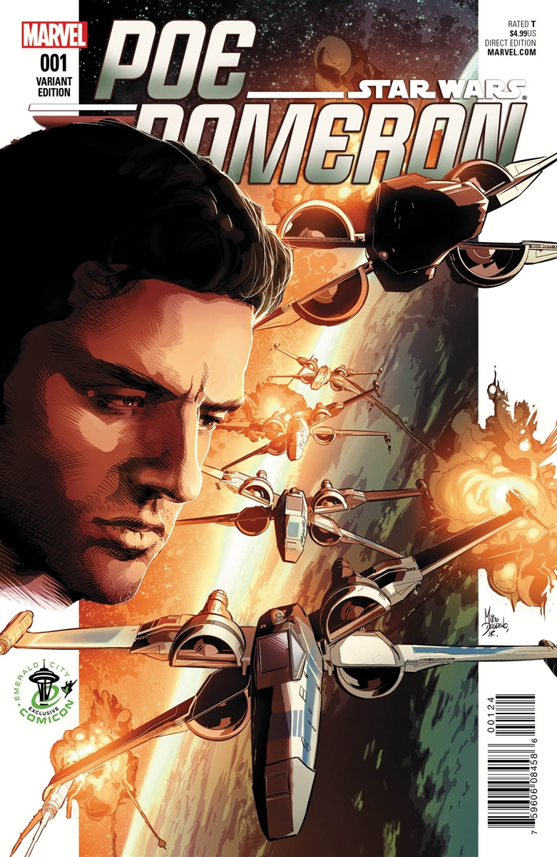 Poe Dameron #1 (Mike Deodato Emerald City Comicon Variant Cover) (07.04.2016)