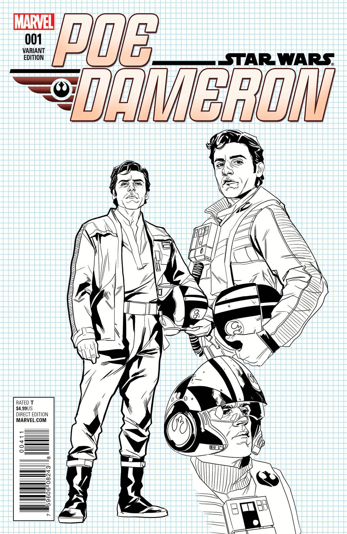 Poe Dameron #1 (Phil Noto Design Variant Cover) (06.04.2016)