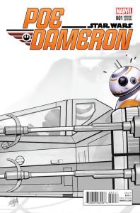 Poe Dameron #1 (David Nakayama Premiere Sketch Variant Cover) (06.04.2016)