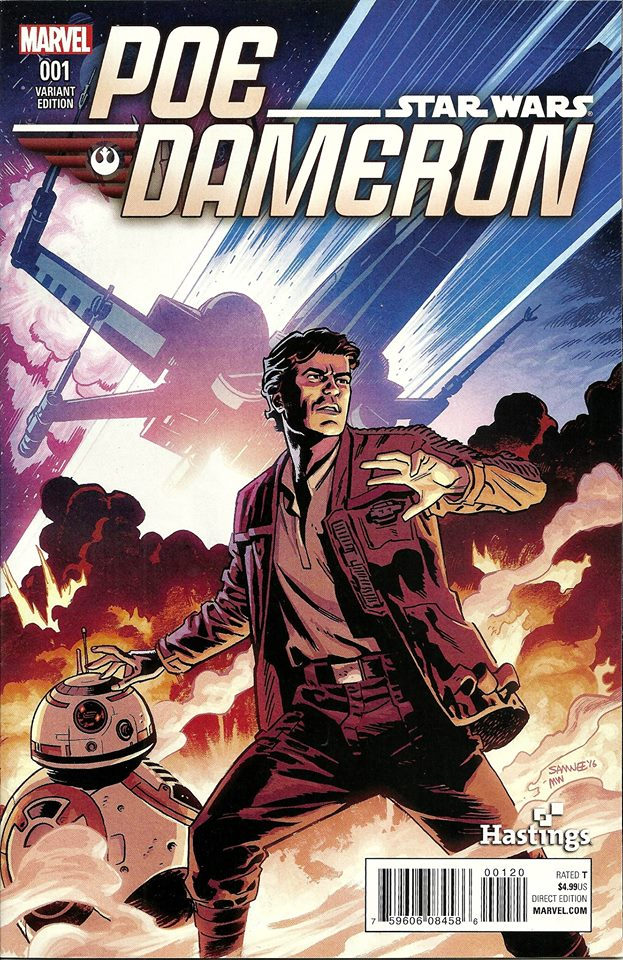 Poe Dameron #1 (Chris Samnee Hastings Variant Cover) (06.04.2016)