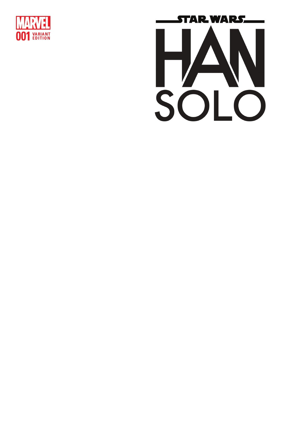 Han Solo #1 (Blank Variant Cover) (15.06.2016)