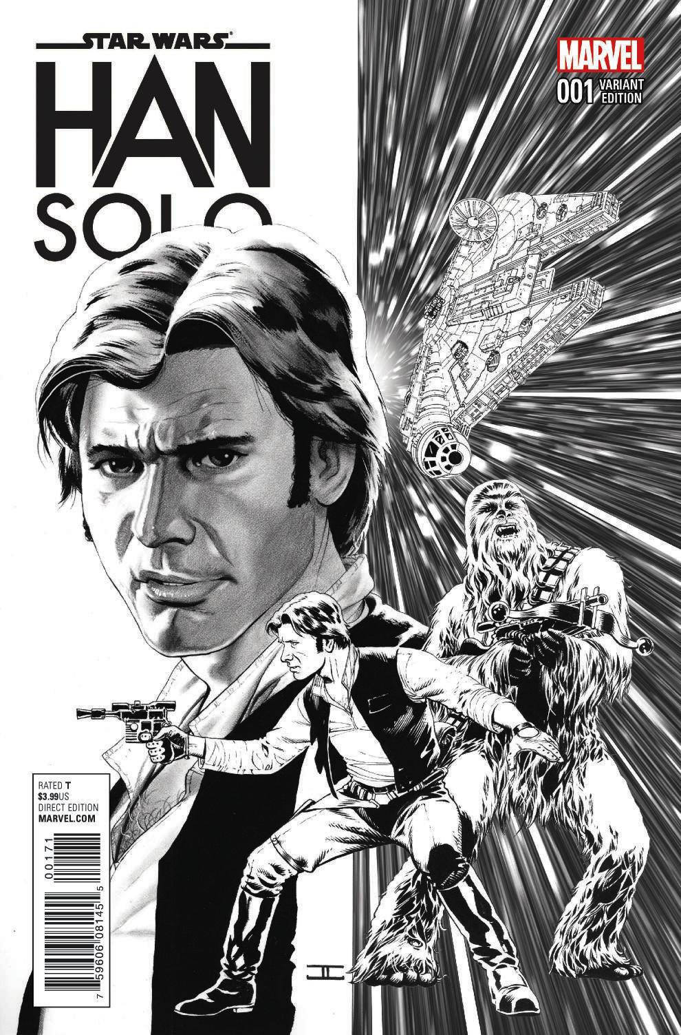 Han Solo #1 (John Cassaday Sketch Variant Cover) (15.06.2016)
