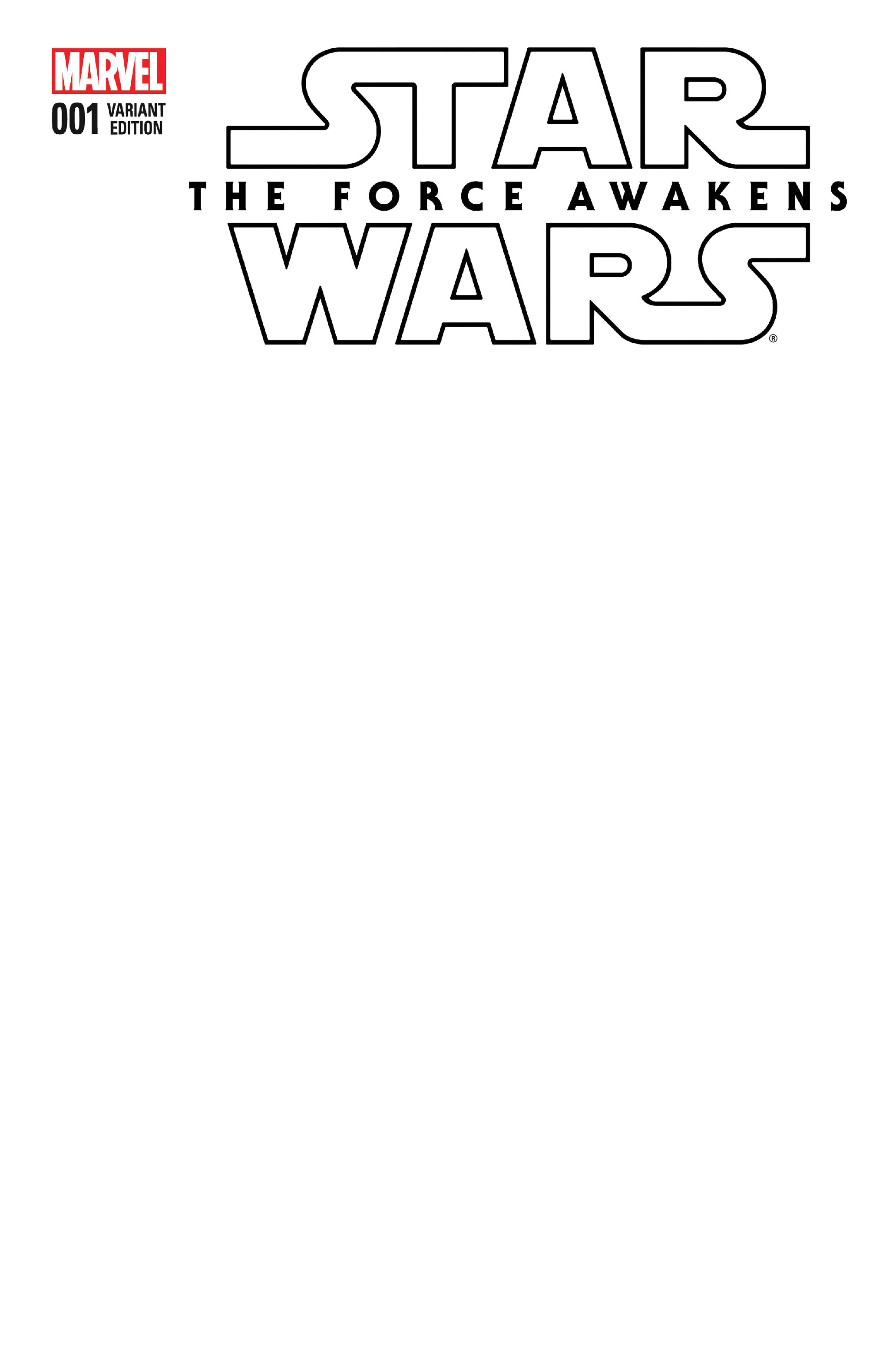 Star Wars: The Force Awakens #1 (Blank Variant Cover) (22.06.2016)